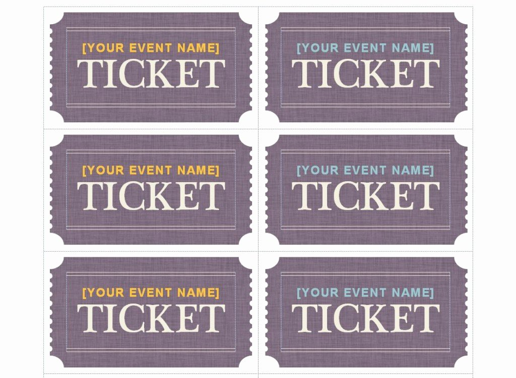 Drink Ticket Template Word Inspirational Patible with Avery Ticket Template