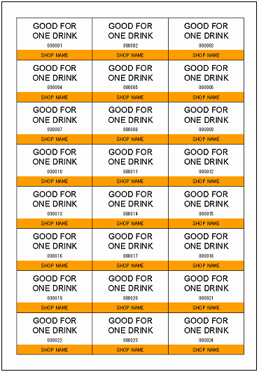 Drink Ticket Template Word Luxury Ticket Excel Templates Free Download