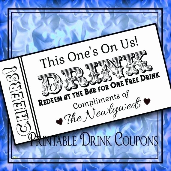 Drink Ticket Template Word Unique Drink Ticket Template New Printable Tickets Wedding