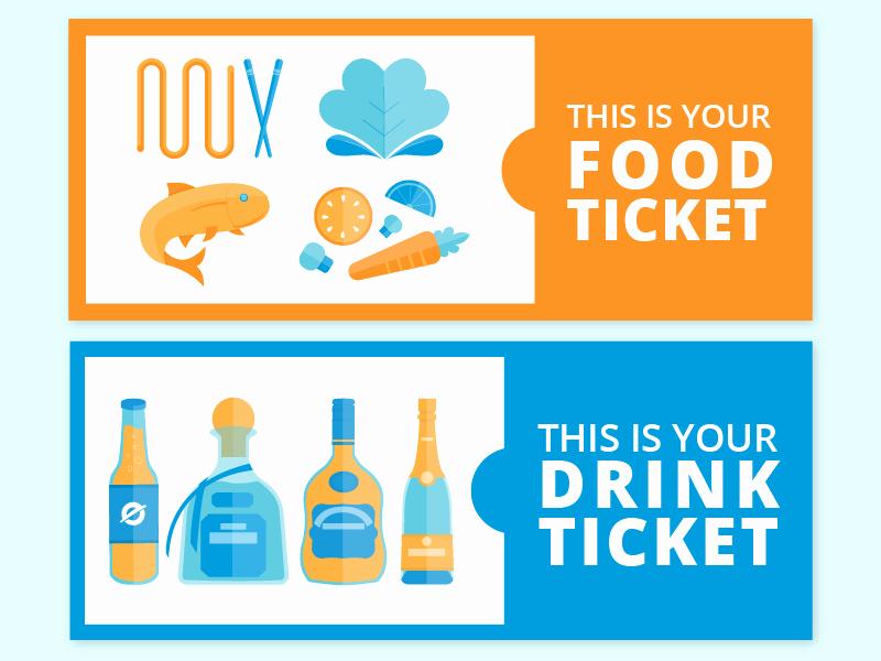 Drink Ticket Template Word Unique Food & Drink Ticket by Denise Villanueva Dribbble