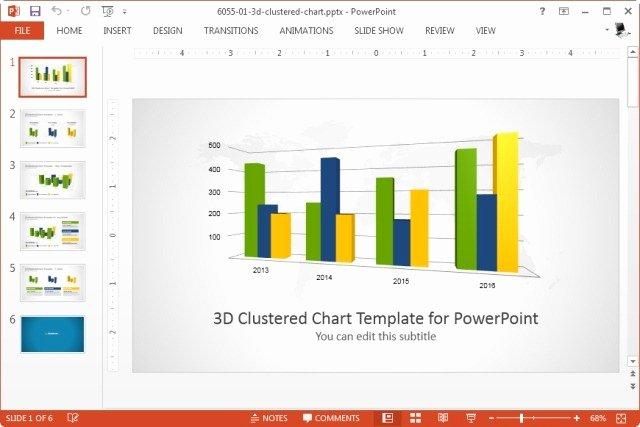Editable Bar Graph Template Lovely 3d Pie Bar Charts Template for Powerpoint Slidemodel