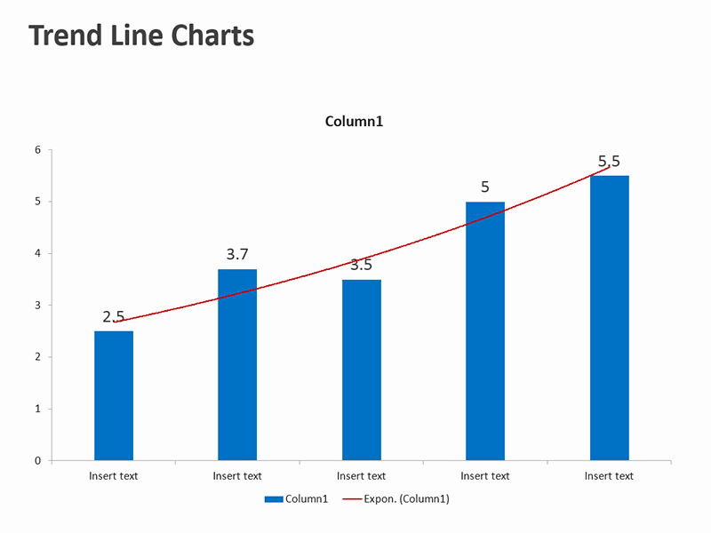 Editable Bar Graph Template New Trend Line Chart Template Editable Ppt Slides