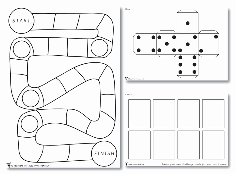 Editable Board Game Template Lovely 7 Best Of Make Your Own Board Game Printable