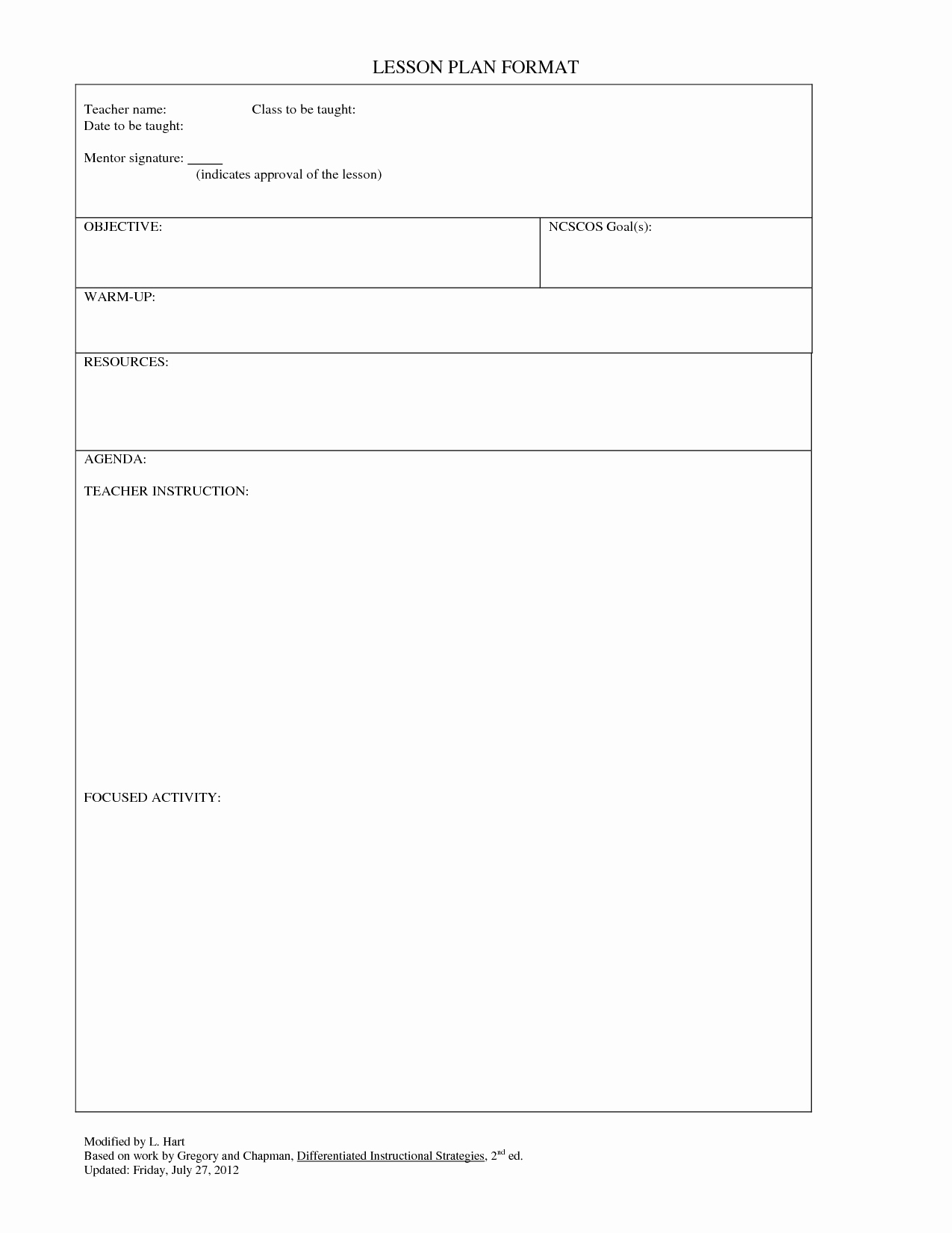 Editable Lesson Plan Template Beautiful Blank Lesson Plan Template Lesson Plan for Gp Blank