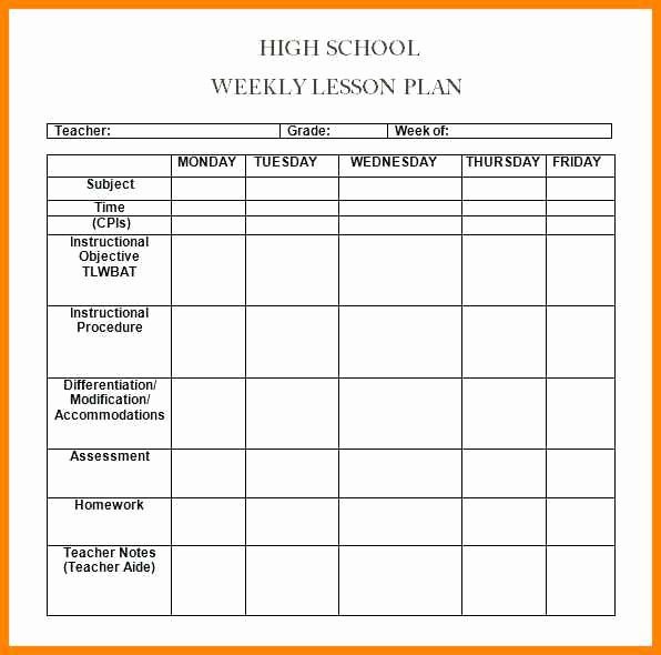 Editable Lesson Plan Template Best Of 6 Editable Weekly Lesson Plan Template