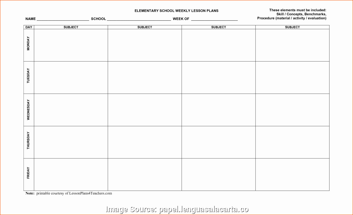 Editable Lesson Plan Template Best Of Excellent Free Lesson Plan Template Editable Weekly Plans