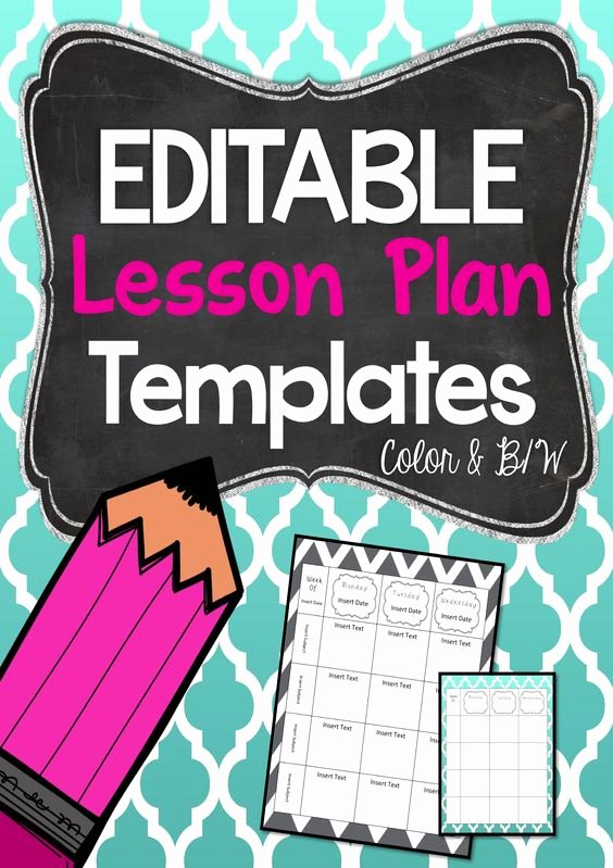 Editable Lesson Plan Template Fresh Editable Lesson Plan Templates Beginning Of Year