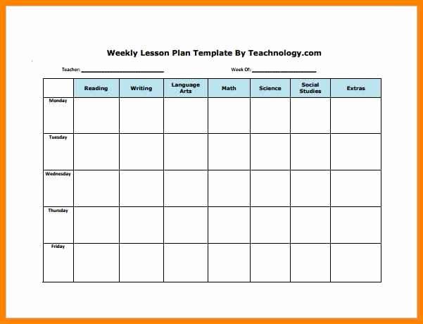 Editable Lesson Plan Template Lovely 6 Editable Weekly Lesson Plan Template