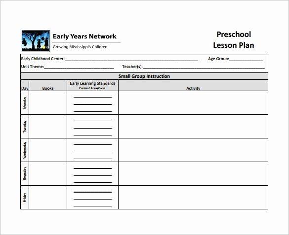 Editable Lesson Plan Template Unique Lesson Plan Template Pdf Editable – Blank Lesson Plan