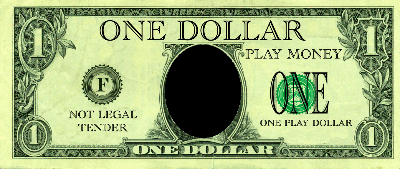 Editable Play Money Template Elegant Realistic Play Money Templates