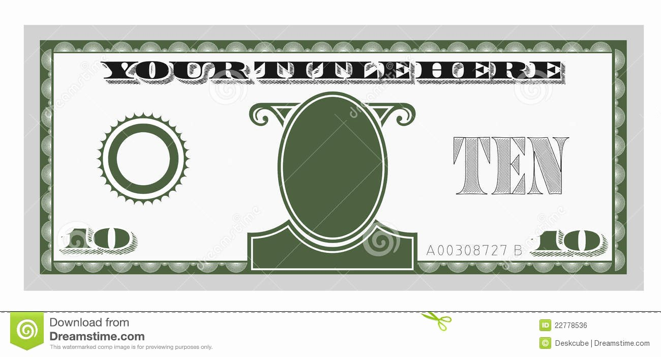 Editable Play Money Template Lovely Best S Of Editable Play Money Template Blank Play