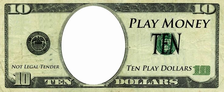 Editable Play Money Template Unique Play Money Template Play Money Templates