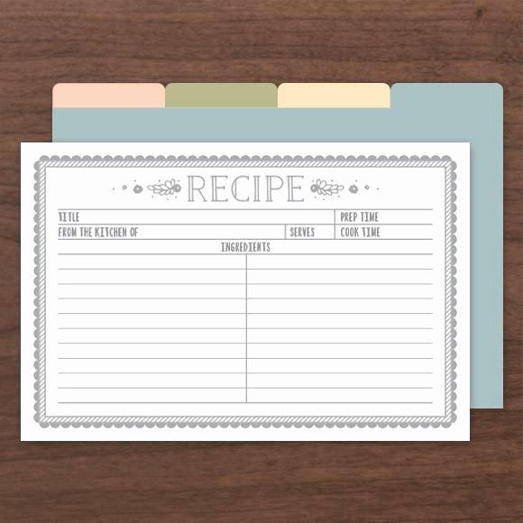 Editable Recipe Card Template Best Of Kraft Recipe Cards Pdf