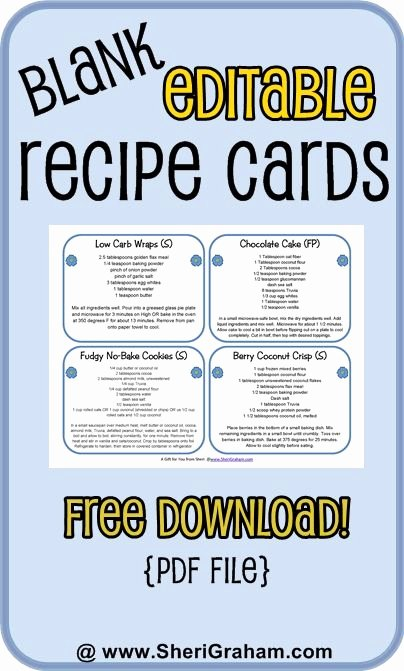 Editable Recipe Card Template Unique Blank Editable Recipe Cards 1 2 & 4 Card Versions Free