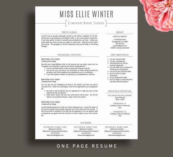 Education Resume Template Free Luxury Teacher Resume Template for Word & Pages Resume Cover