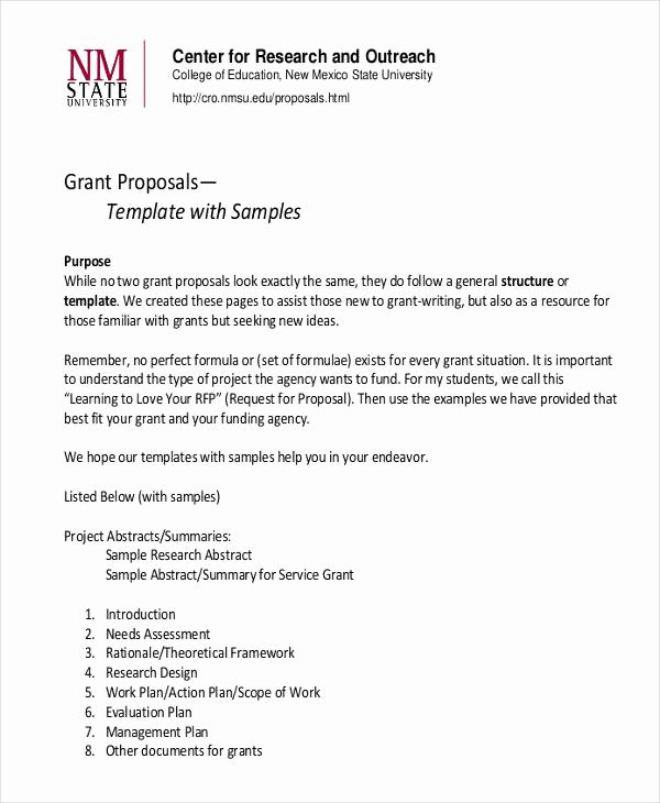 Educational Program Proposal Template Best Of 8 Grant Proposal Examples & Samples Pdf Word Pages