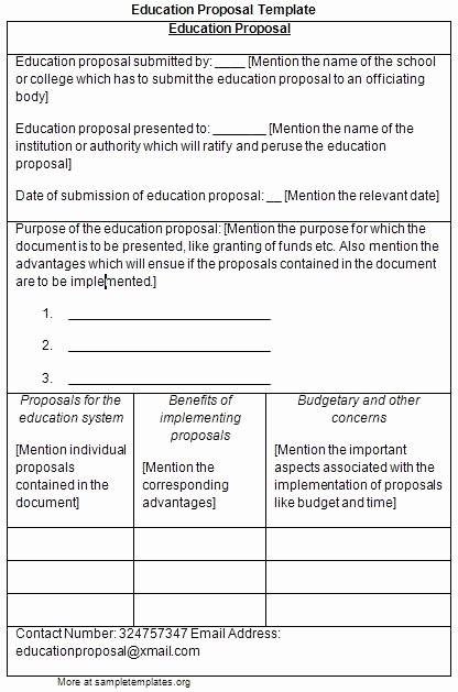 Educational Program Proposal Template Best Of Educational Proposal Template Invitation Template