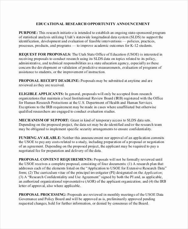 Educational Program Proposal Template Fresh 43 Project Proposal formats