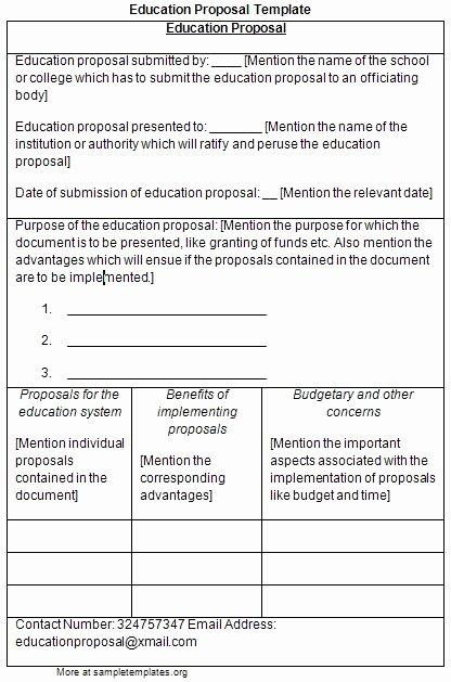 Educational Program Proposal Template Fresh Dissertation Proposal Education