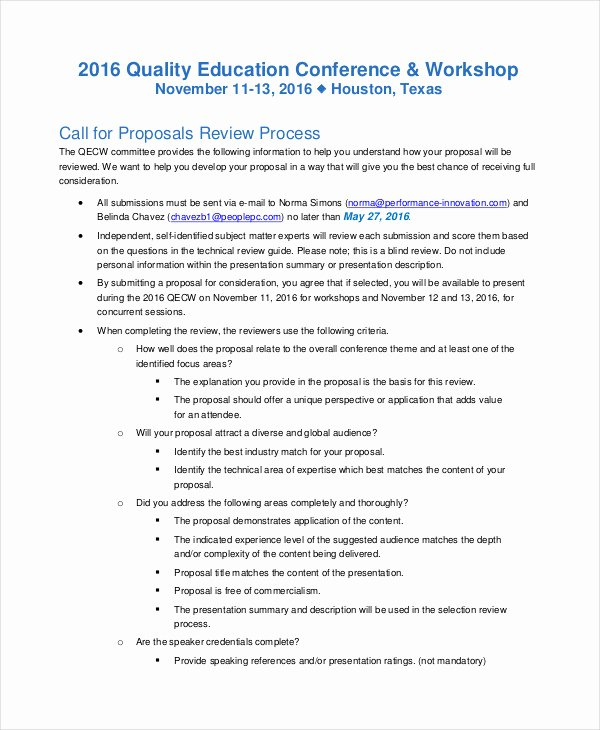 Educational Program Proposal Template Inspirational 8 Conference Proposal Examples & Samples Pdf Word Pages