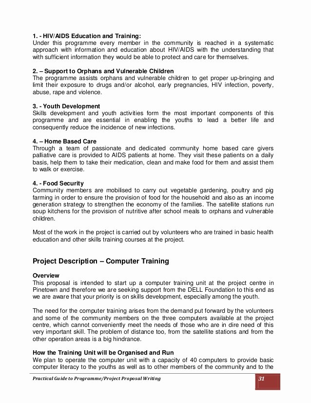 Educational Program Proposal Template Lovely Practical Guide to Programme Project Proposal Writing