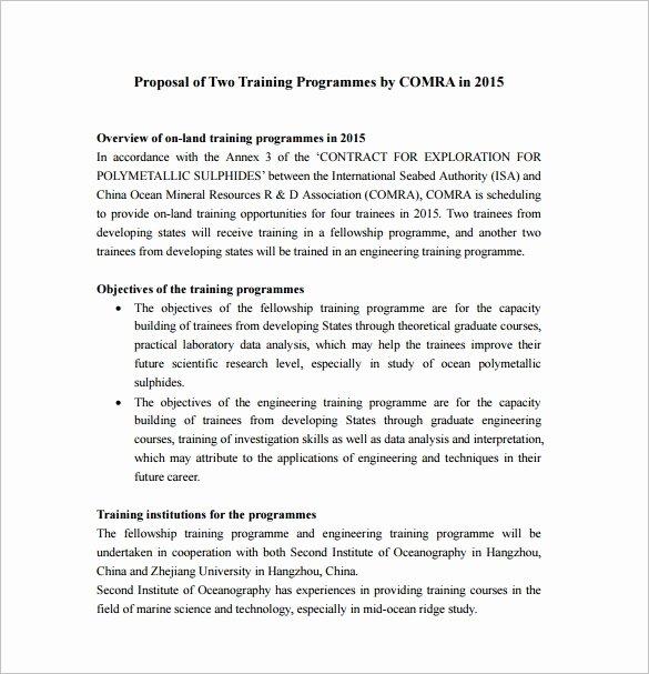 Educational Program Proposal Template Luxury 37 Training Proposal Templates Pdf Doc