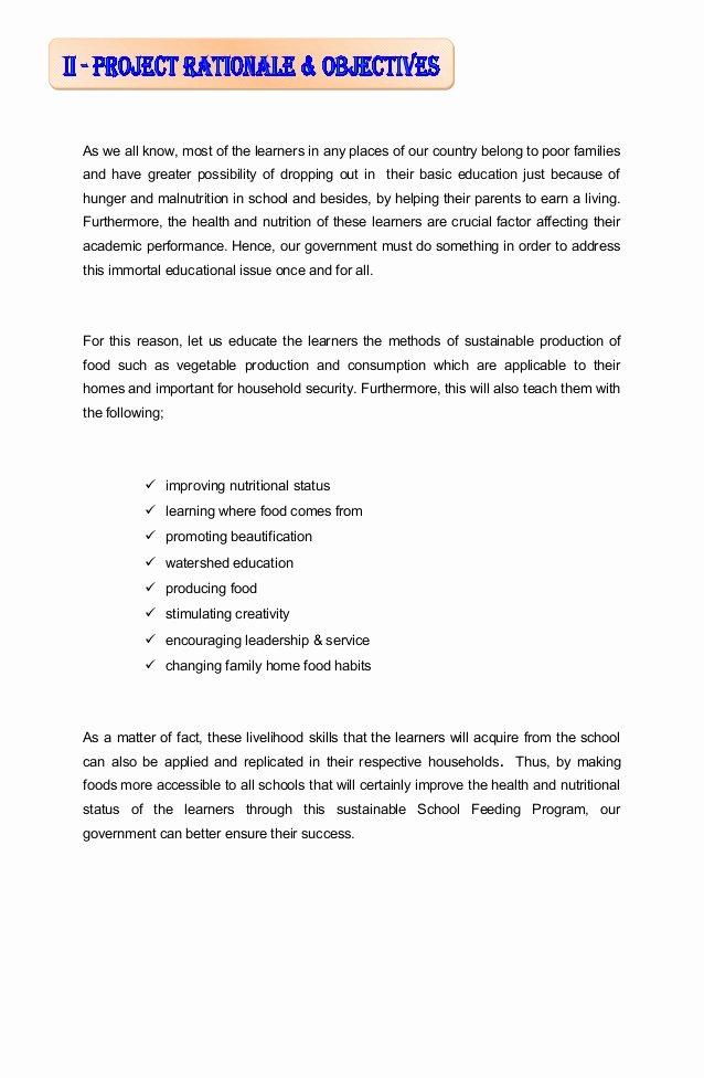 Educational Program Proposal Template New Gulayaan Sa Paaralan Project [gpp] Project Proposal for