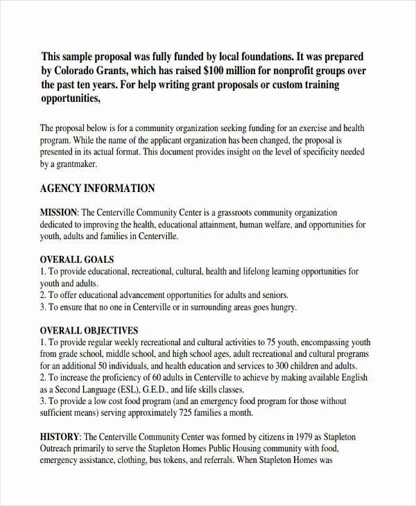 Educational Program Proposal Template Unique 8 Non Profit Proposal Examples & Samples Doc Pdf