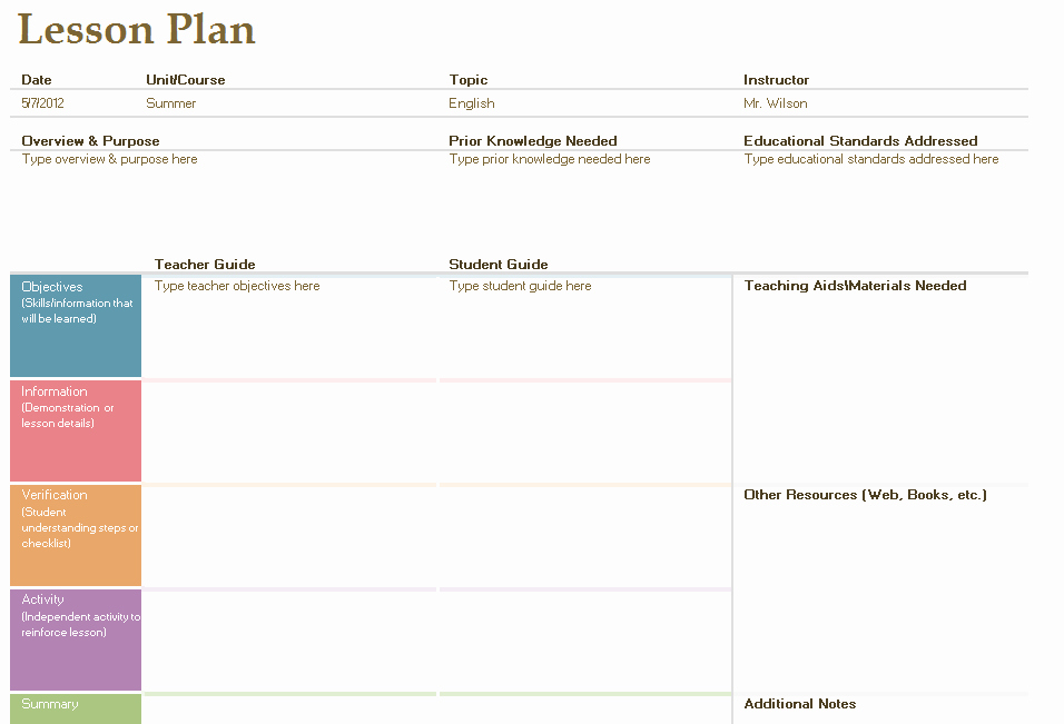Ela Lesson Plan Template Awesome Layout A Lesson Plan