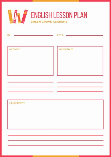 Ela Lesson Plan Template Lovely Customize 1 240 Lesson Plan Templates Online Canva