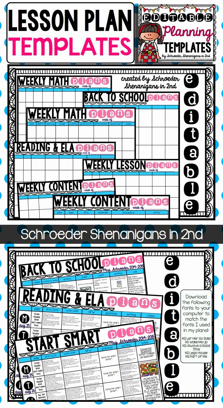 Ela Lesson Plan Template Luxury Pin by Schroeder Shenanigans In 2nd On My Tpt Creations