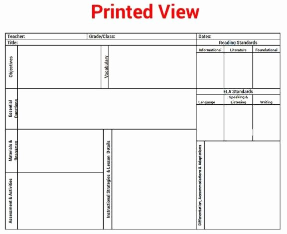 Ela Lesson Plan Template New the Special Editor Mon Core K 5 Ela Reading Lesson