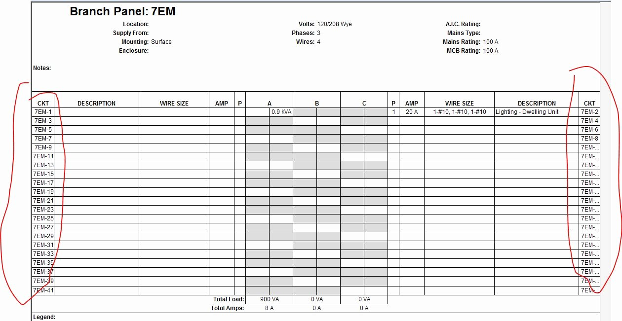Electric Panel Schedule Template Inspirational solved Electrical Panel Schedule formating Autodesk