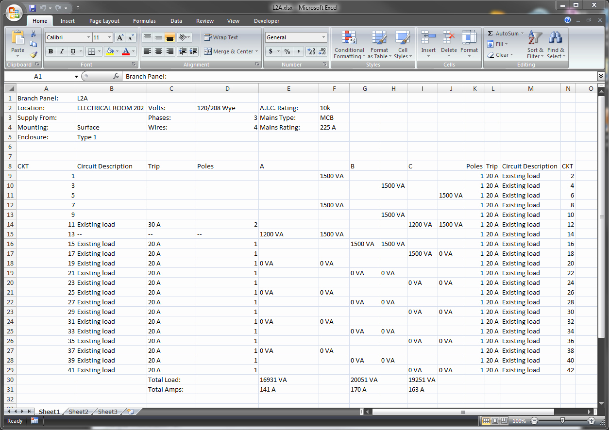 Electric Panel Schedule Template New Electrical Panel Schedule Template Excel