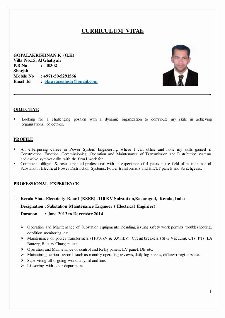 Electrical Engineer Resume Template Luxury Electrical Engineer Cv