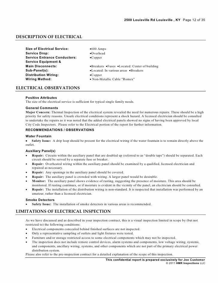 Electrical Inspection Report Template Inspirational Electrical Inspection Report Template to Pin On