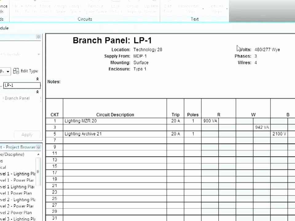 Electrical Panel Directory Template New Electrical Panel Directory Panel Schedule Template Gallery