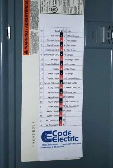 Electrical Panel Label Template Fresh Printable Breaker Panel Label Template Circuit