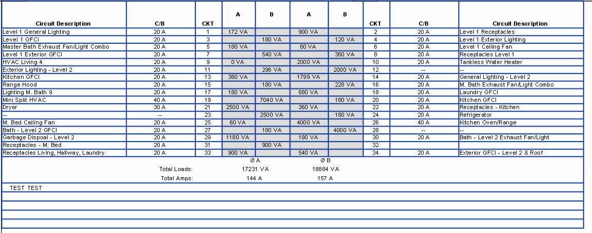 Electrical Panel Schedule Template Awesome Electrical Panel Schedule Remove Empty Rows Autodesk