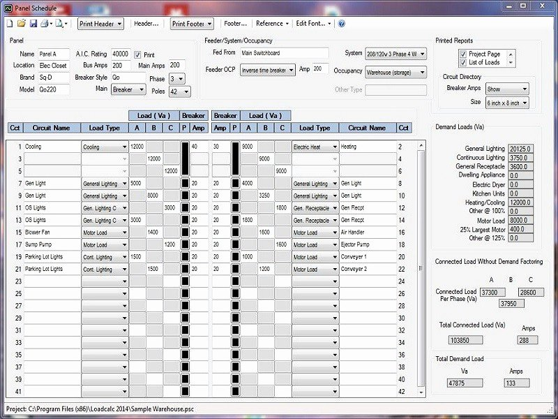Electrical Panel Schedule Template Fresh Cooling Load Calculator software Free Download