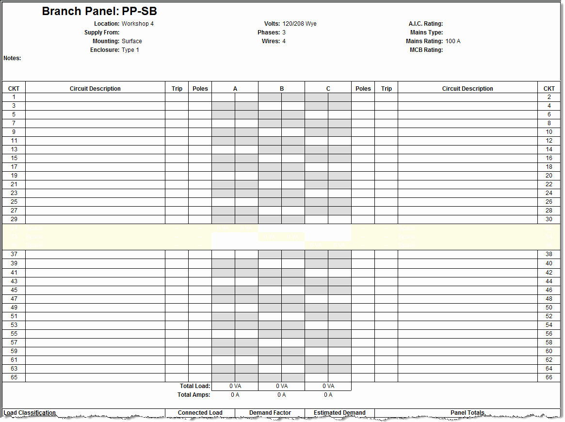 Electrical Panel Schedule Template Fresh Revit Electrical Panel Schedule Configuration Information