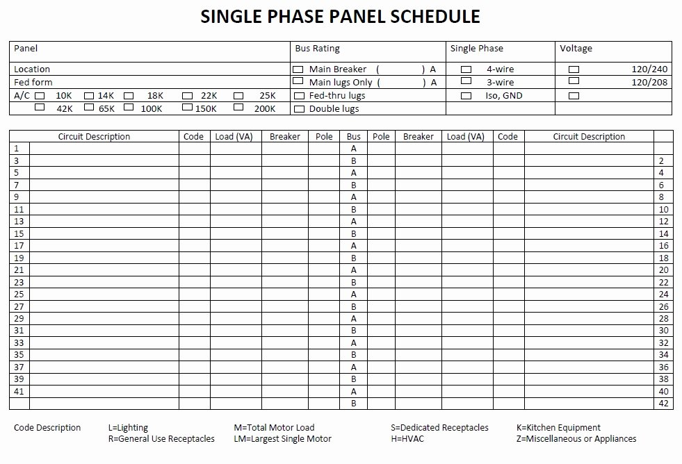 Electrical Panel Schedule Template Lovely Panel Schedule Template 5 Free Templates Schedule
