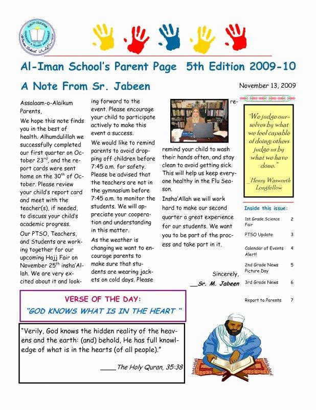 Elementary School Newsletter Template Best Of 12 13 Elementary School Newletters