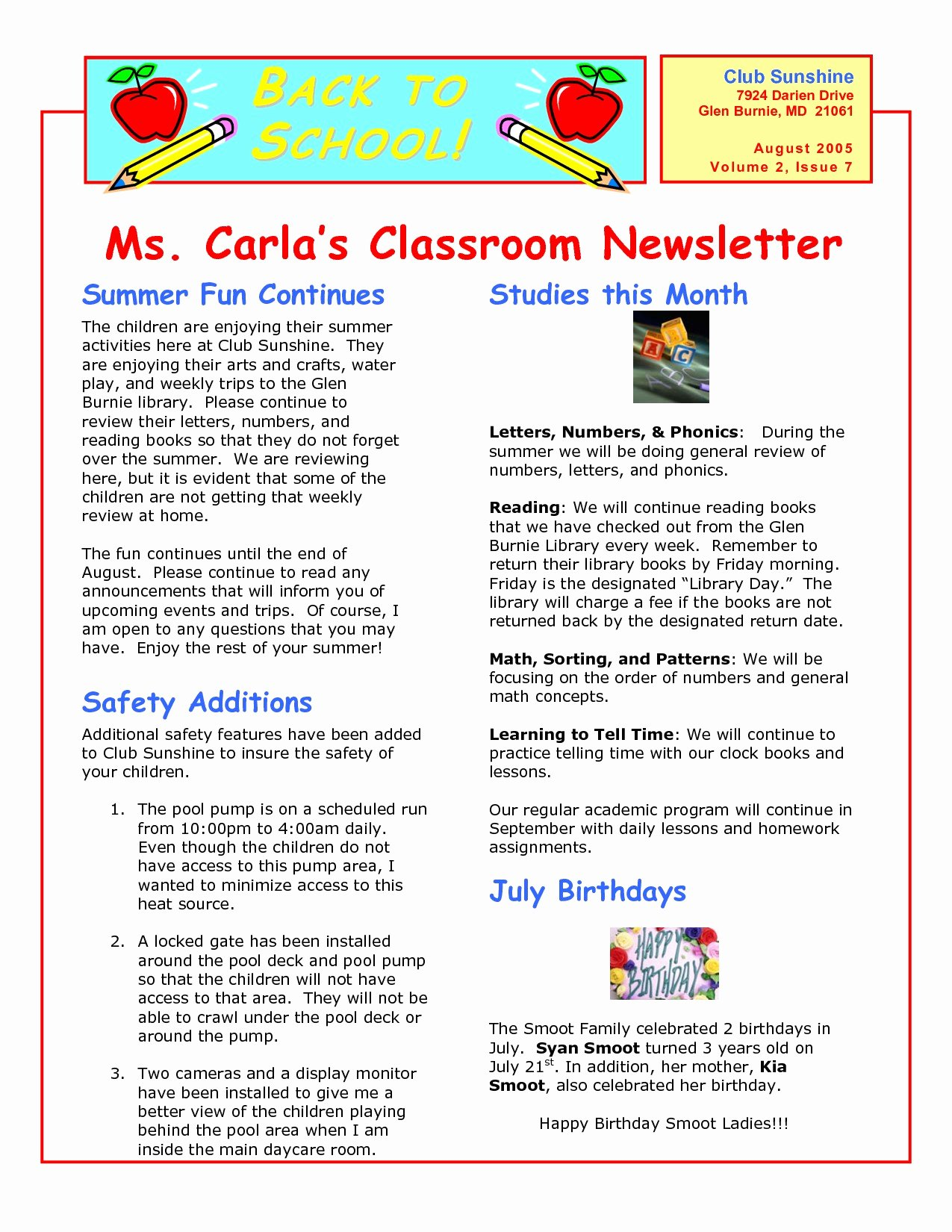 Elementary School Newsletter Template Best Of 14 15 Elementary School News Letter