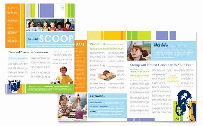Elementary School Newsletter Template Best Of Learning Center and Elementary School Newsletter Design