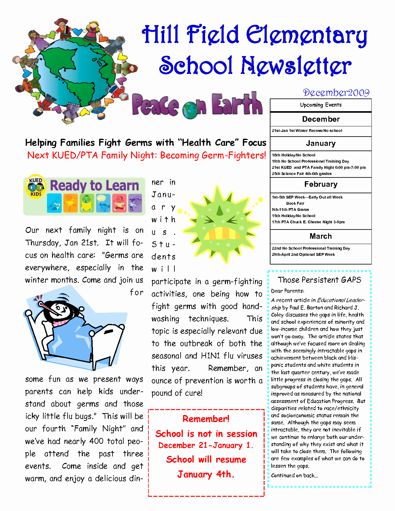 post sample school newsletter templates