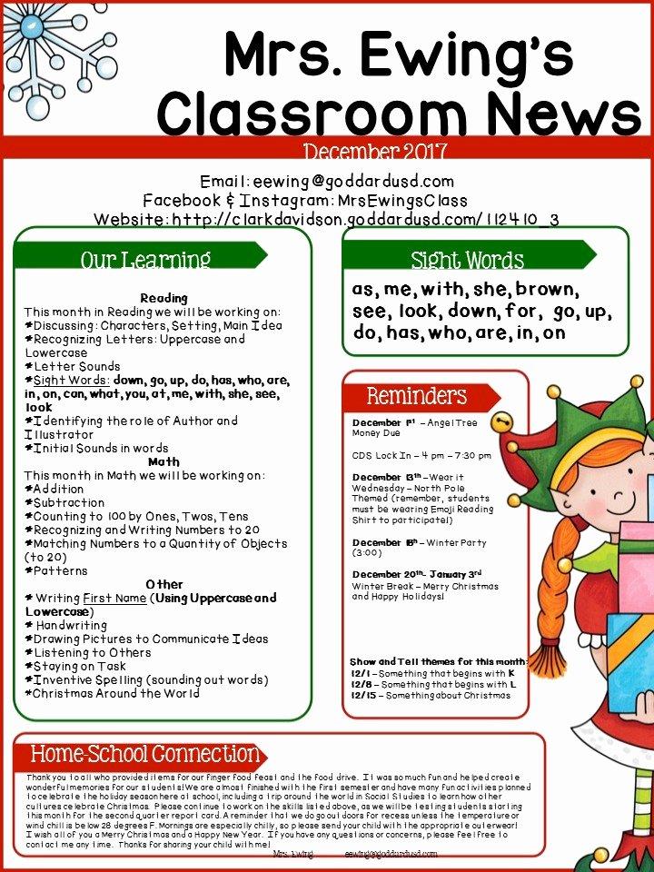Elementary School Newsletter Template Elegant Clark Davidson Elementary School Monthly Newsletters