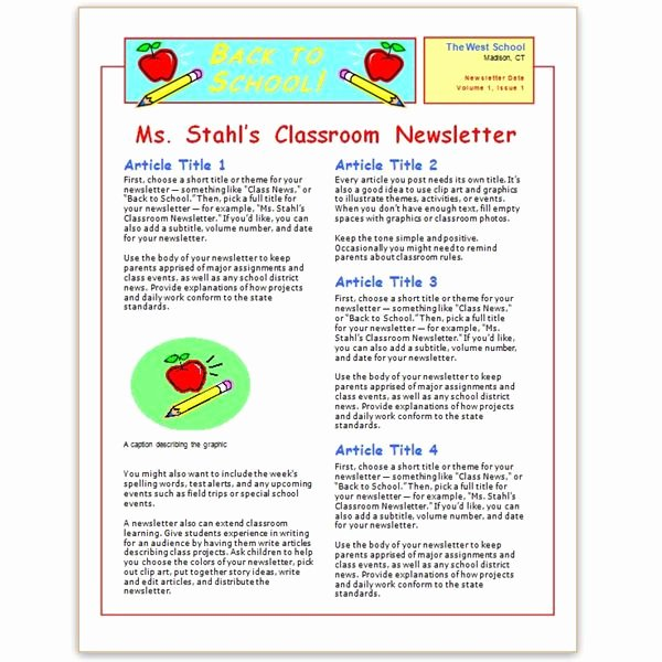 Elementary School Newsletter Template Elegant where to Find Free Church Newsletters Templates for