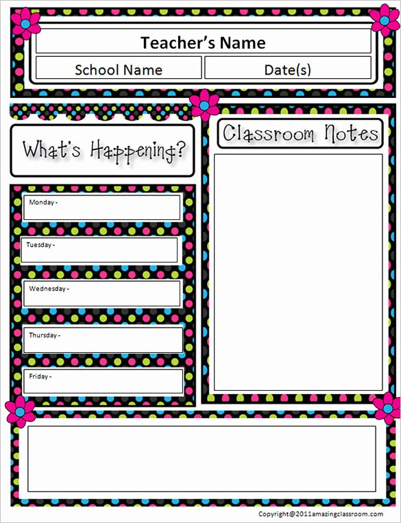 Elementary School Newsletter Template Inspirational 9 Awesome Classroom Newsletter Templates & Designs
