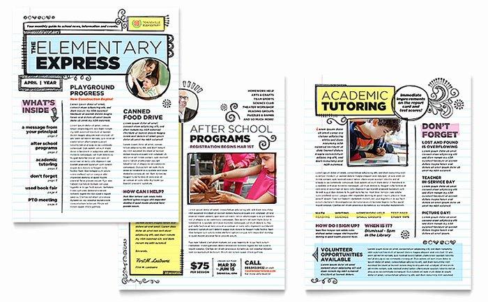 Elementary School Newsletter Template New Elementary School Newsletter Template Word & Publisher